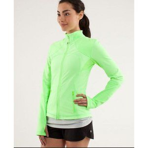 Lululemon Forme Jacket Bright Green Size 4